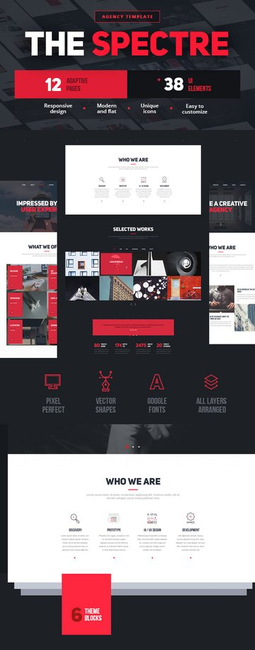 The Spectre Agency PSD Site Template 2016