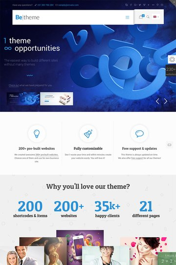 BeTheme Best Corporate WordPress Theme for Business