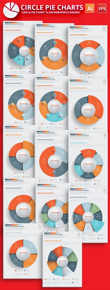 Circle Pie Chart Infographic Template