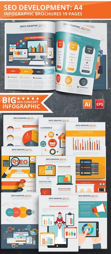 SEO Infographic Template Design