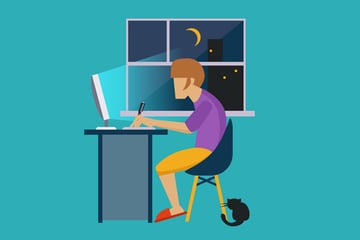 Online work from home graphic designer