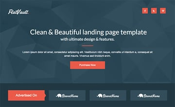Flat Vault Landing page template