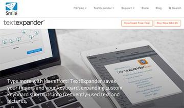 TextExpander productivity app