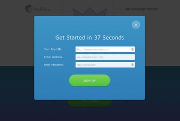 Lightbox squeeze page example