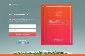 FlatPack unbounce landing page template