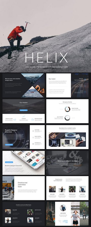 Helix - Simple PowerPoint Presentation Template