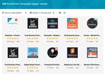 Simple PPT Templates - Best Sellers