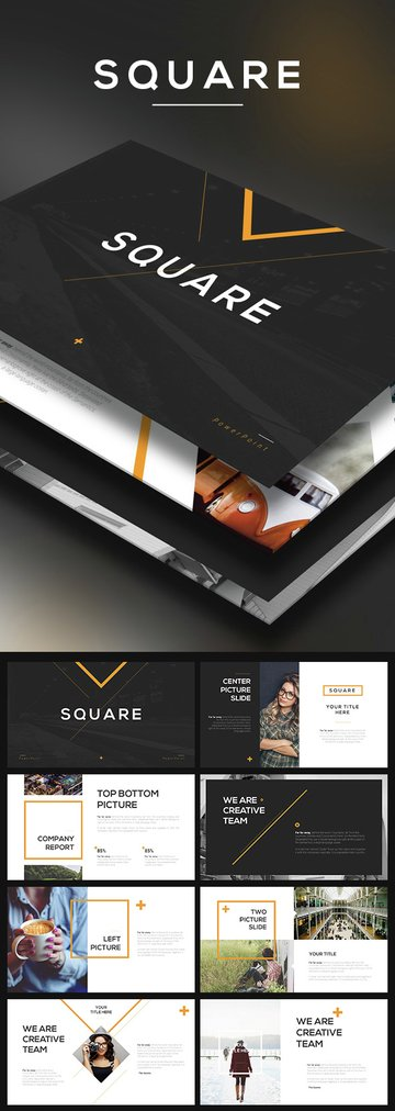 Square - Modern PPT Template