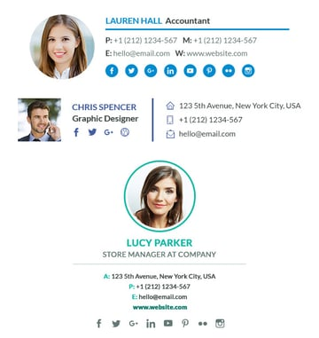 Flexible Email Signature Template