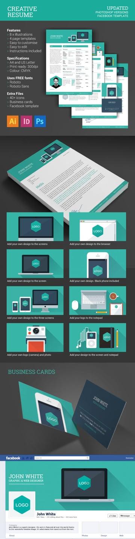 Flat Minimal Style Creative Resume Design