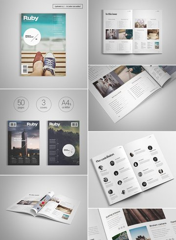 Creative Magazine Layout Design
