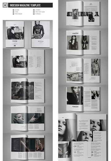 Fashionable InDesign Magazine Template