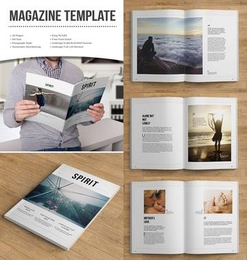 Creative Magazine Template Design
