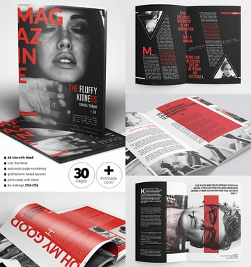 Vibrant Magazine Template Design