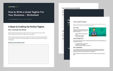 How to Write a Great Tagline - Worksheet