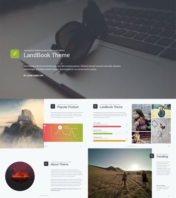 Landbook Unique PPT Template