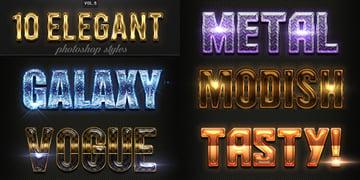 Elegant PSD Text Styles