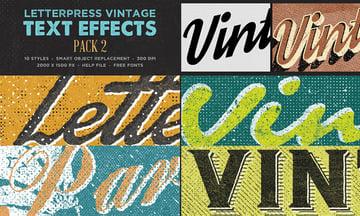 Letterpress Creative PSD Text Effects