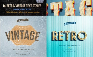 14 Bold Vintage PSD Text Effects