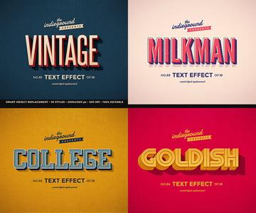 Retro Vintage Text Effects Bundle