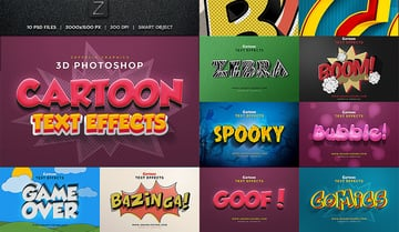 Cartoon Photoshop Text Effects