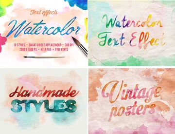 Watercolor Photoshop Text Effects