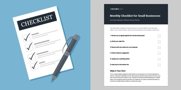 Monthly checklist for small businesses