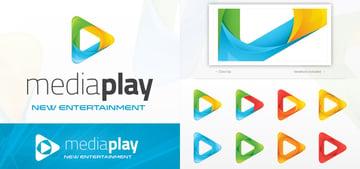 Media Play Video Logo Template Design