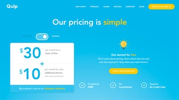 Quip Pricing Tiers