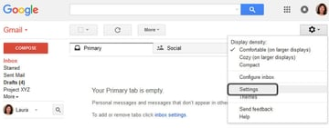 Gmail Vacation Responder - Settings