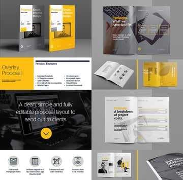 Overlay Business Proposal Template Designs