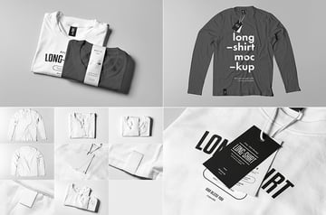 Long Shirt Realistic Mock-up PSD Templates