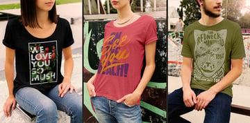 Photorealistic PSD T-Shirt Mockup Examples