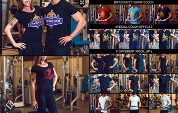 Sporty T-Shirt Mock-Up PSD Realistic Templates