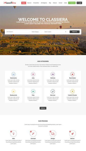 Classiera Classified Ads Listing WordPress Theme