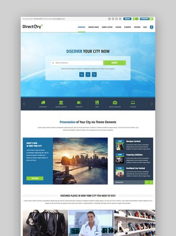 Directory Portal Business WordPress Listing Template