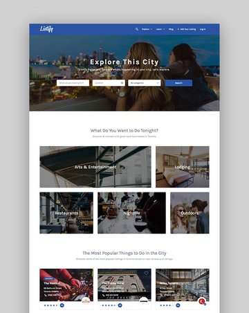 Listify WordPress Business Directory Website Template