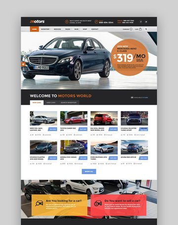 Motors - Directory WordPress Listings Website Template