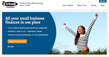 Outright GoDaddy Online Bookkeeping Accounting Software