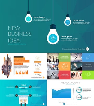 B Square Professional Business PowerPoint Template