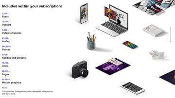 Envato Elements unbegrenzte Downloads professioneller Design-Assets