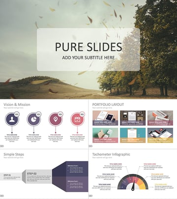 Pure Business Professional PPT Presentation Template