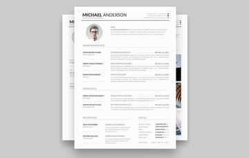 Minimal resume template design