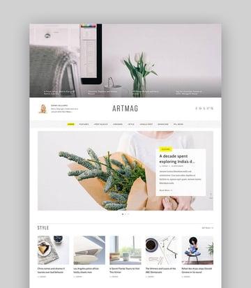 ArtMag Minimal WordPress Blog Writer Magazine Theme