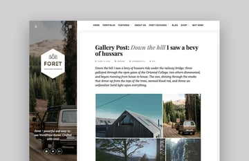 Foret Creative WordPress Theme for Writers and Bloggers