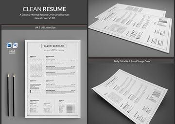 Minimal Simple Microsoft Word Resume Templates