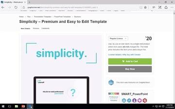 Simplicity premium PowerPoint template