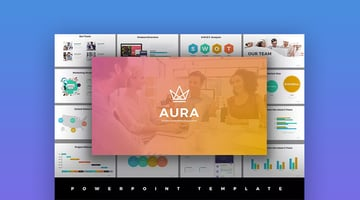 Aura Awesome PowerPoint Template With Cool Slide Designs