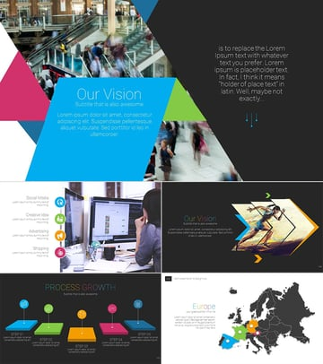 I Soft Cool PPT Presentation Colorful Template