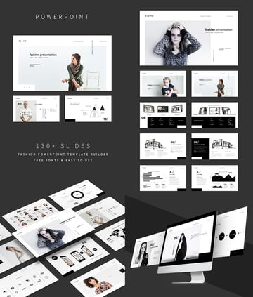 The Fashion Stylish Cool PPT Template Design Set